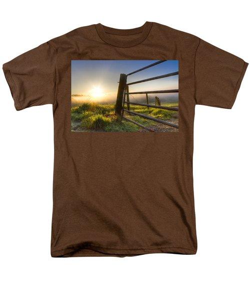 Sunrise  Gate T-Shirt by Debra and Dave Vanderlaan