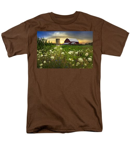 Sunset Lace Pastures T-Shirt by Debra and Dave Vanderlaan