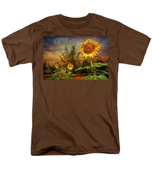 Three Sunflowers T-Shirt by Adrian Evans