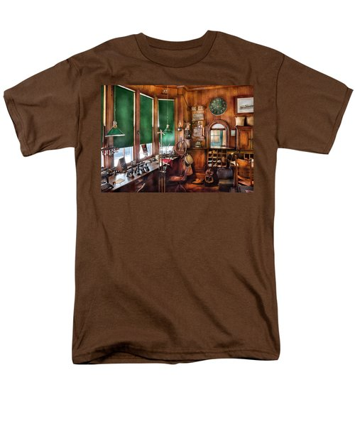 Train - Yard - The stationmasters office  T-Shirt by Mike Savad