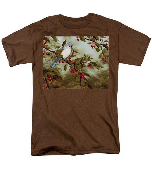 Tufted Titmouse Men's T-Shirt  (Regular Fit) by Rick Bainbridge