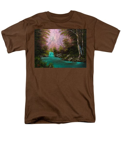 Turquoise Waterfall T-Shirt by C Steele