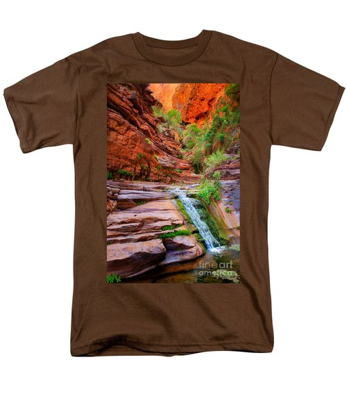 Upper Elves Chasm Cascade Men's T-Shirt  (Regular Fit) by Inge Johnsson