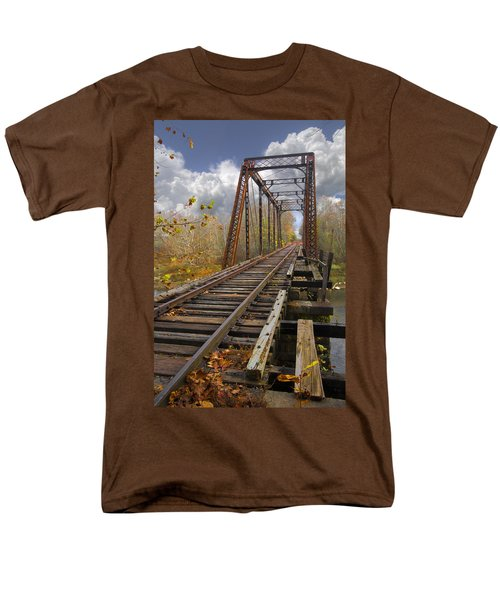 Waiting for the Train T-Shirt by Debra and Dave Vanderlaan