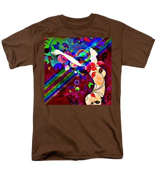 Wondrous At The End Of The Rainbow T-Shirt by Angelina Vick