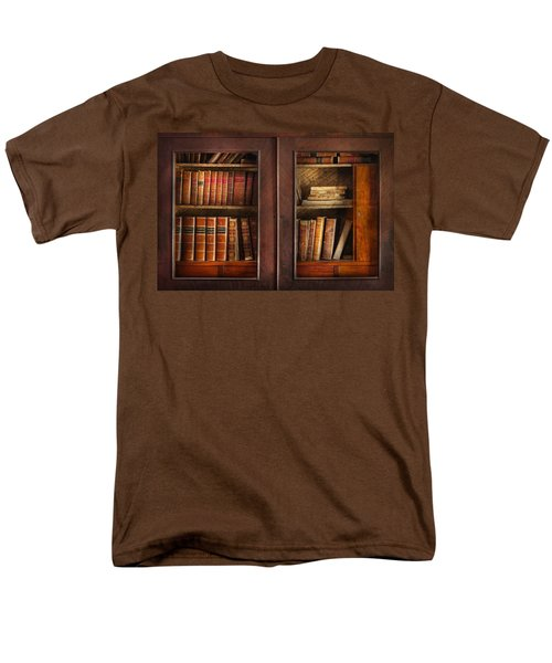 Writer - Books - The book cabinet  T-Shirt by Mike Savad