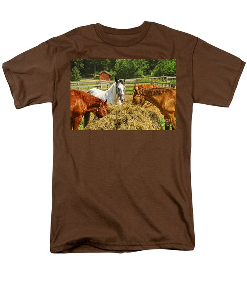 Horses at the ranch T-Shirt by Elena Elisseeva