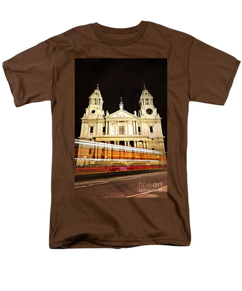 St. Paul's Cathedral in London at night T-Shirt by Elena Elisseeva