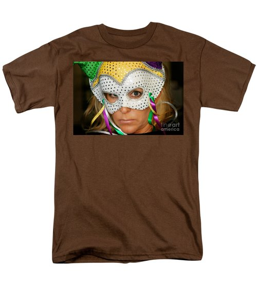 Blond Woman With Mask T-Shirt by Henrik Lehnerer