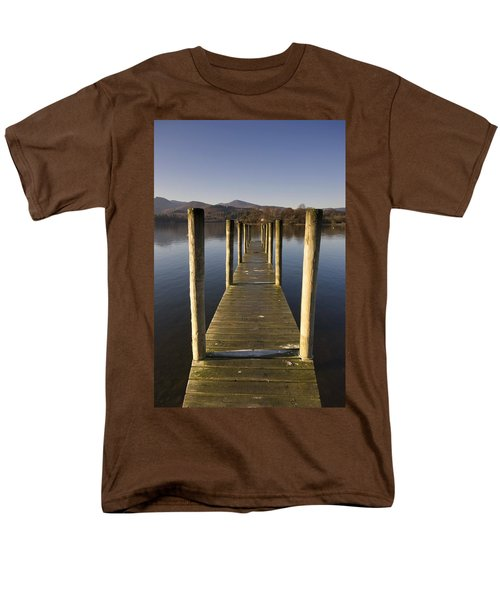 A Wooden Dock Going Into The Lake T-Shirt by John Short