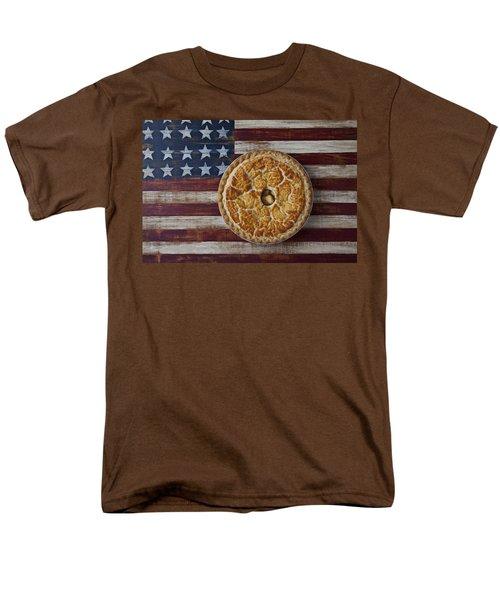 Apple pie on folk art  American flag T-Shirt by Garry Gay