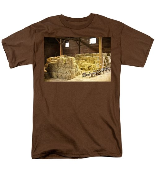Barn with hay bales T-Shirt by Elena Elisseeva