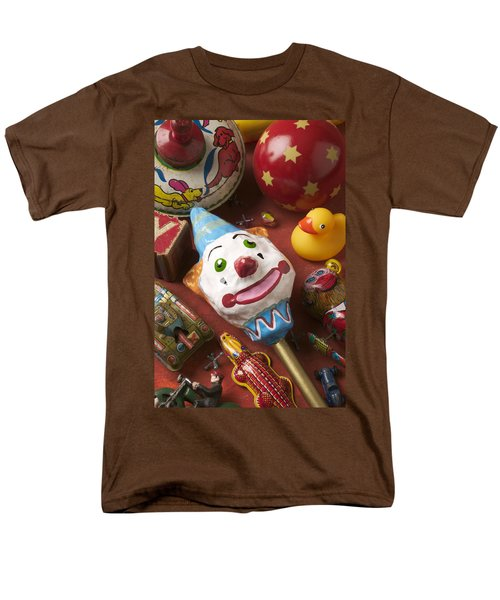 Clown Rattle And Old Toys T-Shirt by Garry Gay