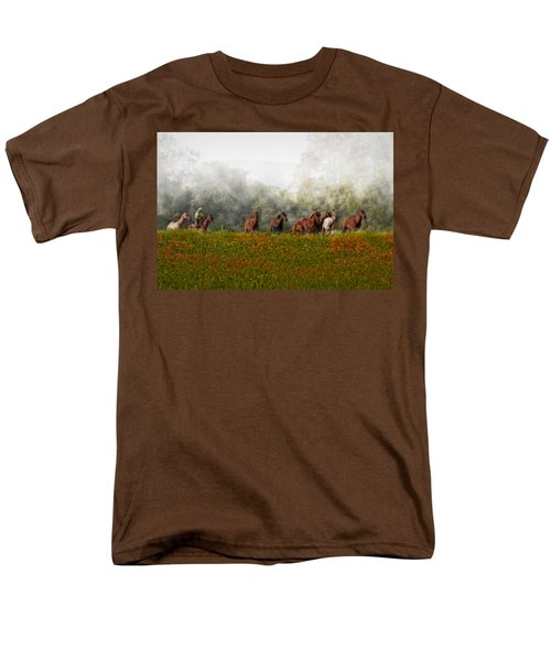 Foggy Morning T-Shirt by Susan Candelario