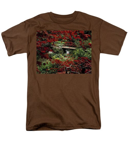 Japanese Garden, Through Acer In T-Shirt by The Irish Image Collection