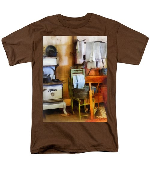 Laundry Drying in Kitchen T-Shirt by Susan Savad