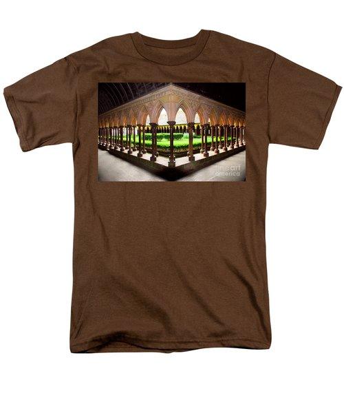 Mont Saint Michel cloister garden T-Shirt by Elena Elisseeva