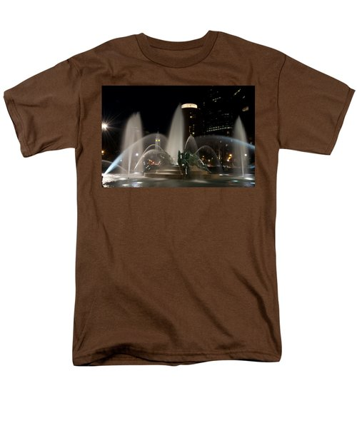 Night View of Swann Fountain T-Shirt by Bill Cannon