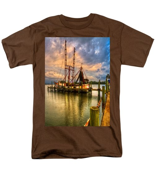 Shrimp Boat at Sunset T-Shirt by Debra and Dave Vanderlaan