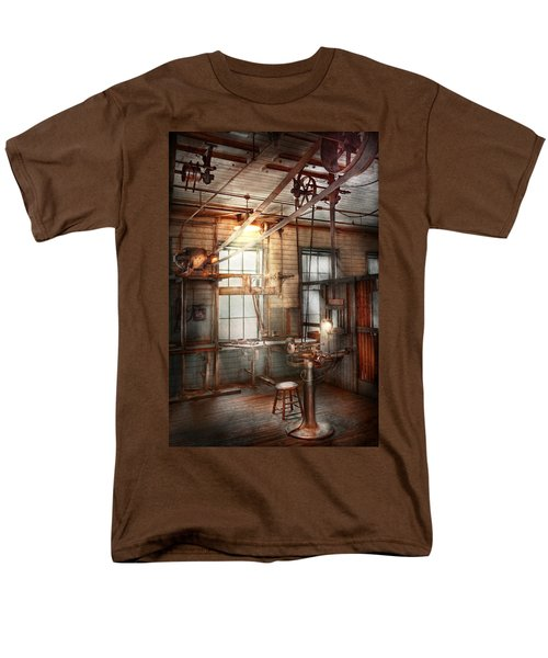 Steampunk - Machinist - The grinding station T-Shirt by Mike Savad