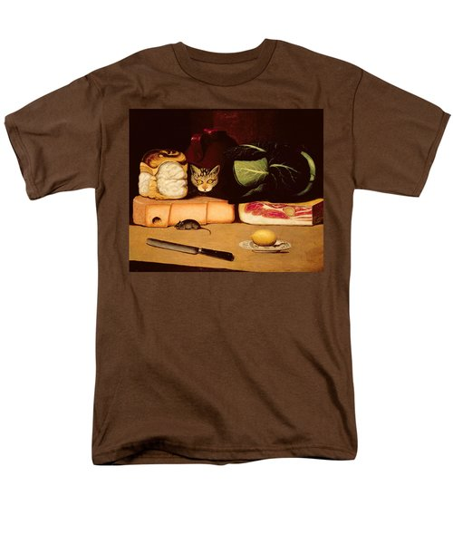 Still Life With Cat And Mouse Men's T-Shirt  (Regular Fit) by Anonymous