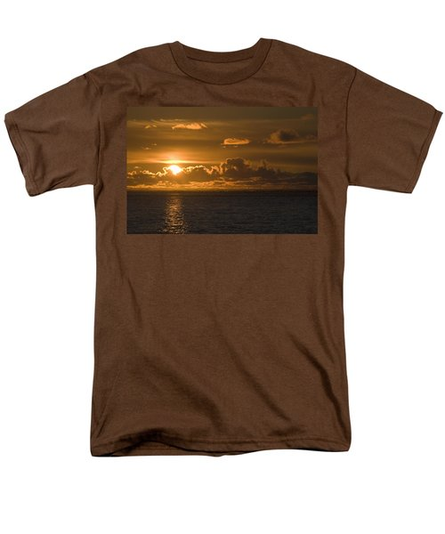 Sun Setting On The Ocean With The T-Shirt by Michael Interisano