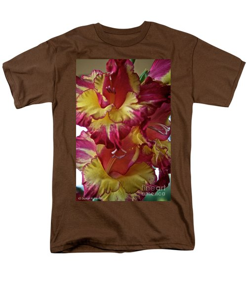 Vibrant Gladiolus T-Shirt by Susan Herber