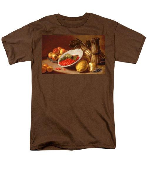 Still Life Of Raspberries Lemons And Asparagus  Men's T-Shirt  (Regular Fit) by Italian School
