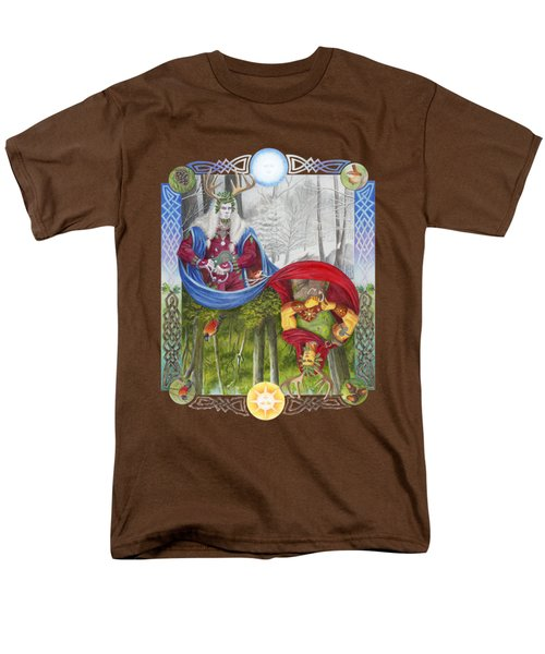 The Holly King And The Oak King Men's T-Shirt  (Regular Fit) by Melissa A Benson