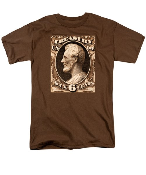 1875 Abraham Lincoln Treasury Department Stamp Men's T-Shirt  (Regular Fit) by Historic Image