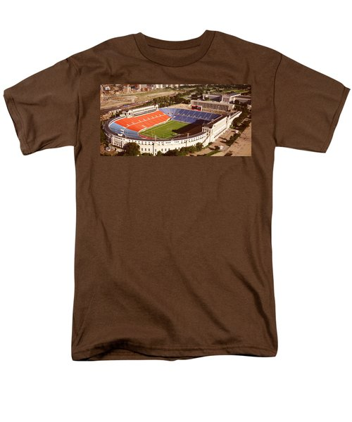 Aerial View Of A Stadium, Soldier Men's T-Shirt  (Regular Fit) by Panoramic Images