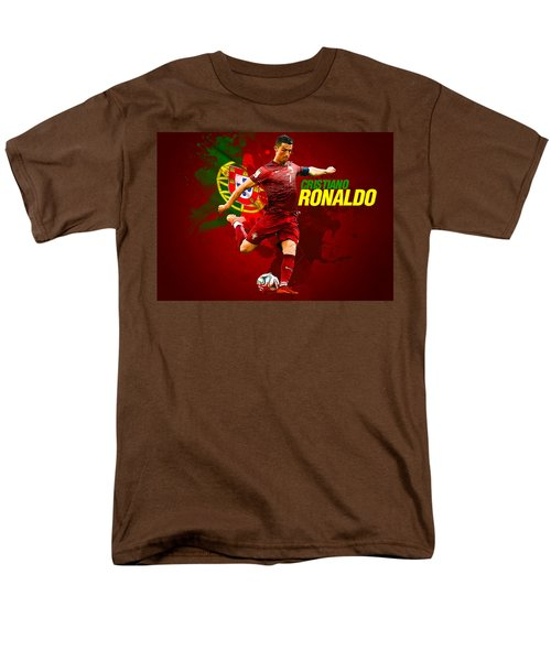 Cristiano Ronaldo Men's T-Shirt  (Regular Fit) by Semih Yurdabak
