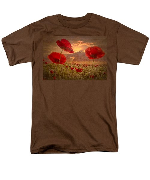 A Poppy Kind of Morning T-Shirt by Debra and Dave Vanderlaan