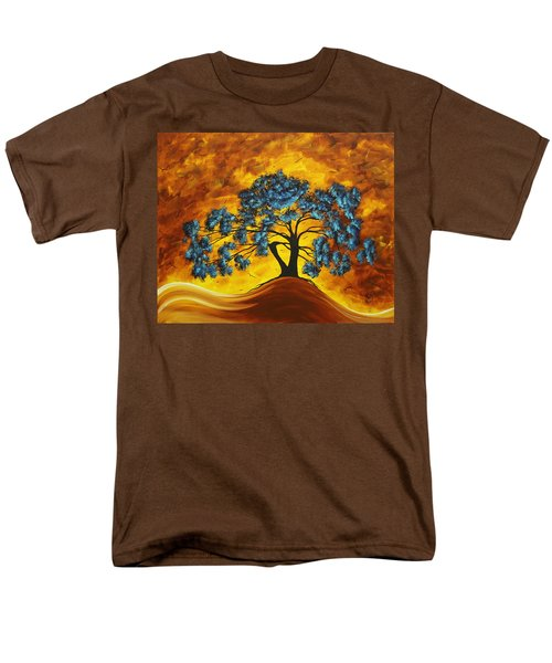 Abstract Art Original Landscape Painting DREAMING IN COLOR by MADARTMADART T-Shirt by Megan Duncanson