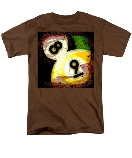 Abstract Eight and Nine Billiard Balls T-Shirt by David G Paul