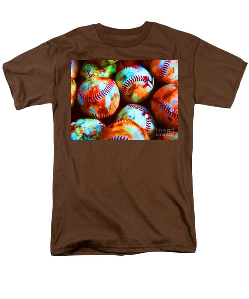 All American Pastime - Pile of Baseballs - Painterly T-Shirt by Wingsdomain Art and Photography
