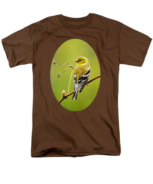 American Goldfinch In The Rain Men's T-Shirt  (Regular Fit) by Christina Rollo
