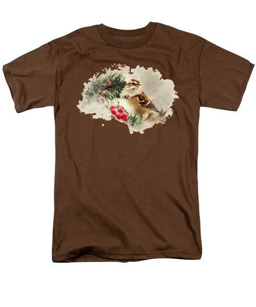 American Tree Sparrow Watercolor Art Men's T-Shirt  (Regular Fit) by Christina Rollo