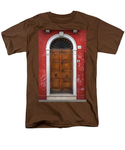 an old wooden door in Italy T-Shirt by Joana Kruse