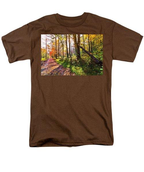 Autumn Trail T-Shirt by Debra and Dave Vanderlaan