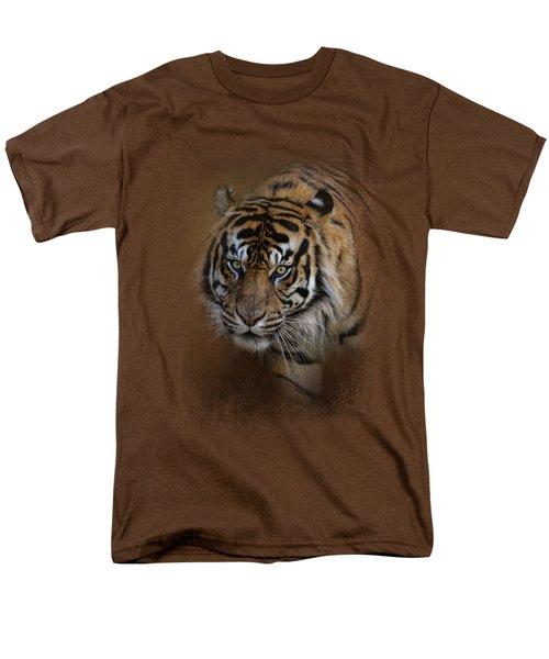 Bengal Stare Men's T-Shirt  (Regular Fit) by Jai Johnson