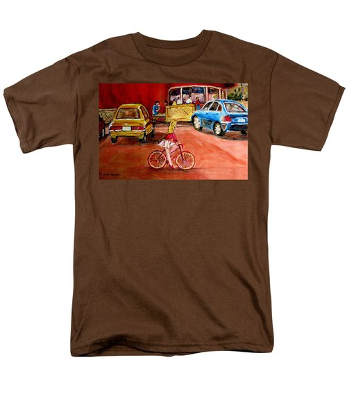 BIKING TO THE ORANGE JULEP T-Shirt by CAROLE SPANDAU