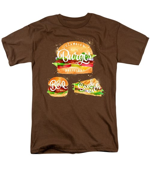 Black Burger Men's T-Shirt  (Regular Fit) by Aloke Design