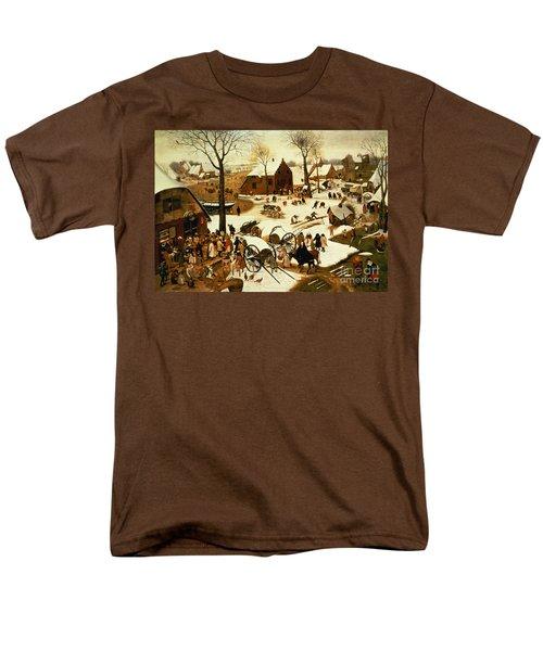 Census At Bethlehem Men's T-Shirt  (Regular Fit) by Pieter the Elder Bruegel