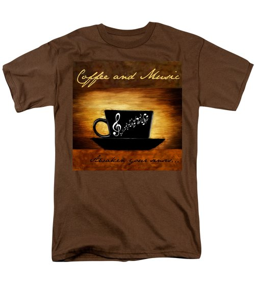 Coffee And Music T-Shirt by Lourry Legarde