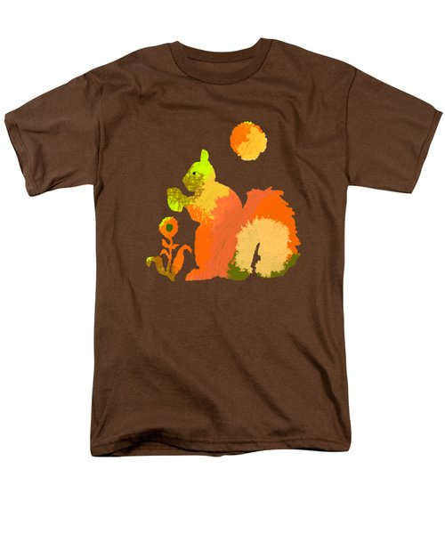 Colorful Squirrel 2 Men's T-Shirt  (Regular Fit) by Holly McGee