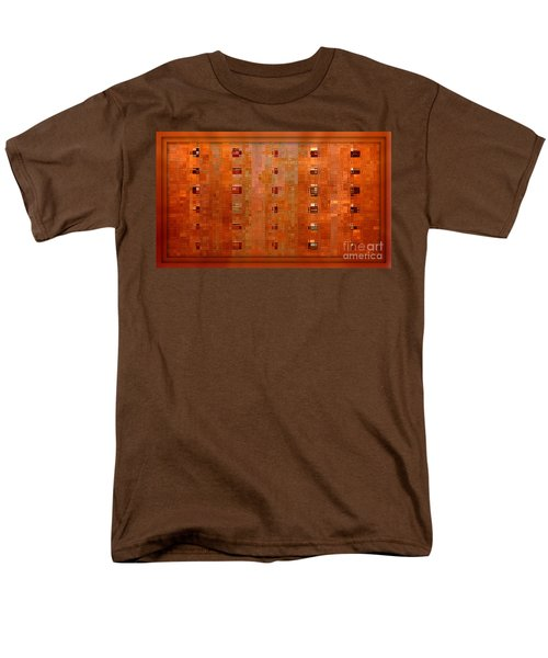 Copper Abstract T-Shirt by Carol Groenen