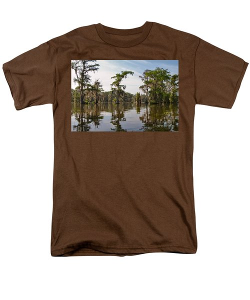 Cypress Trees and Spanish Moss in Lake Martin T-Shirt by Louise Heusinkveld