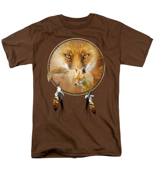 Dream Catcher- Spirit Of The Red Fox Men's T-Shirt  (Regular Fit) by Carol Cavalaris