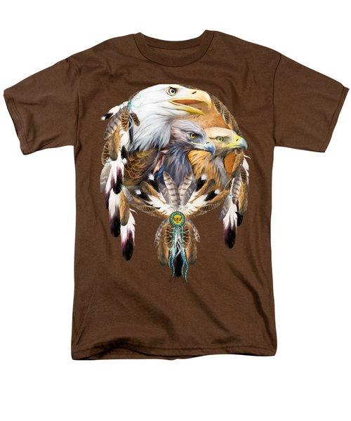 Dream Catcher - Three Eagles Men's T-Shirt  (Regular Fit) by Carol Cavalaris